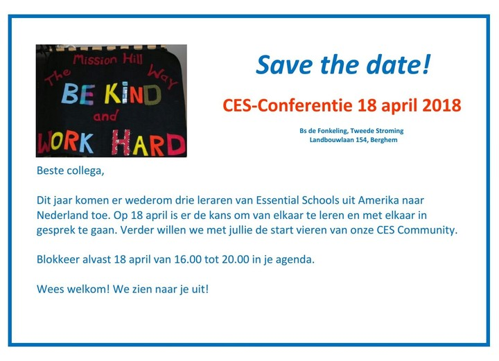 CES-conferentie 18 april 2018