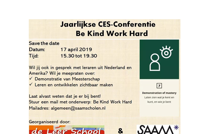Save the date: CES-Conferentie